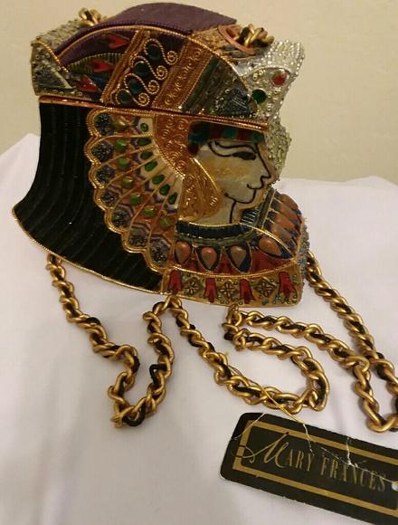 Mary Frances Handbags - Mary Francis Vintage Ornate Hard Case Box Bag